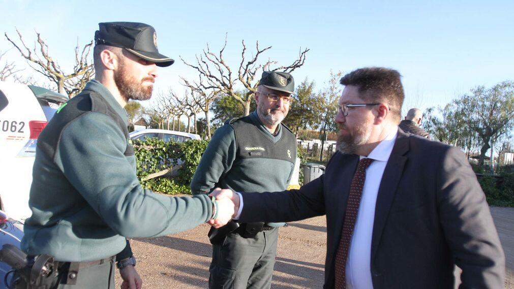 Rodrigo Sánchez Haro, visita en Almonte  zonas afectadas por el temporal del pasado fin de semana