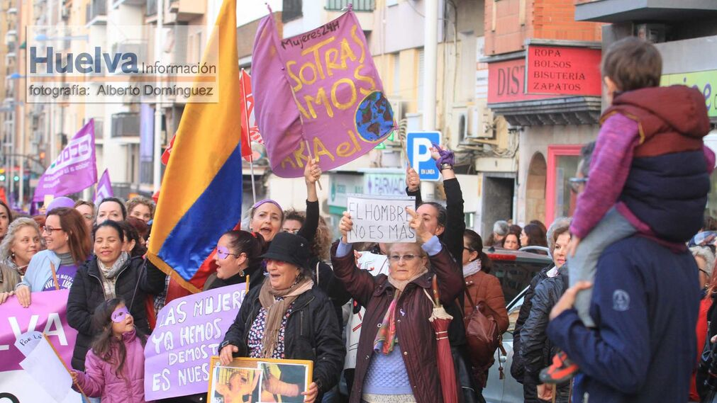 Imágenes de la manifestación del 8-M en lucha por la igualdad