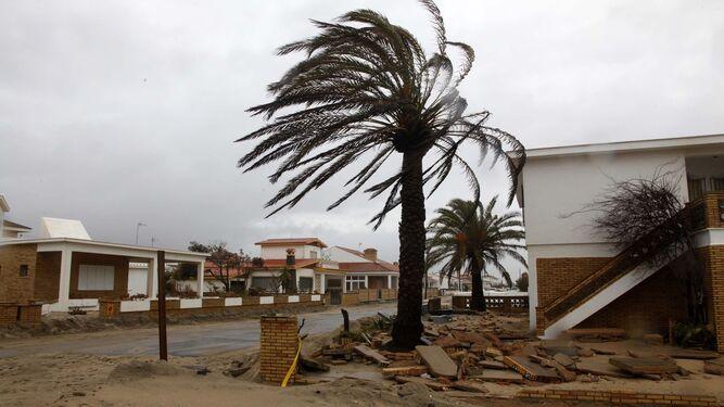 Fuertes rachas de viento se registraron ayer en el litoral onubense.