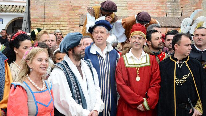 Carmelo Romero junto con Manuel Gil y Raúl Costas.