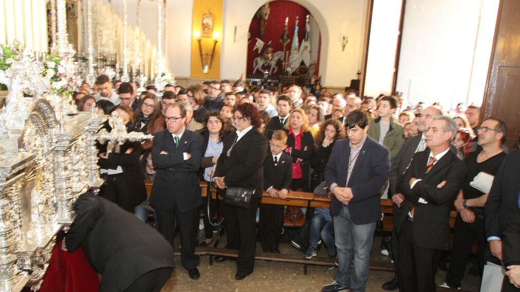 Primera levantá, en la Hermandad de la Sagrada Cena.
