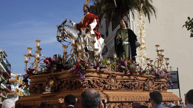 Nuestro Padre Jesús del Amor en su Entrada Triunfal en Jerusalén, en Punta Umbría.