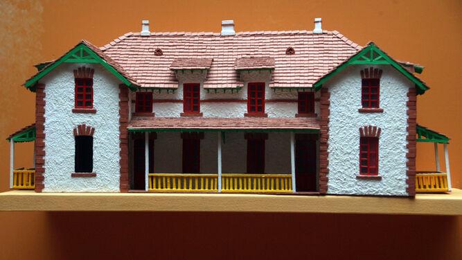 Reproducción a pequeña escala de una de las viviendas del Barrio Obrero.