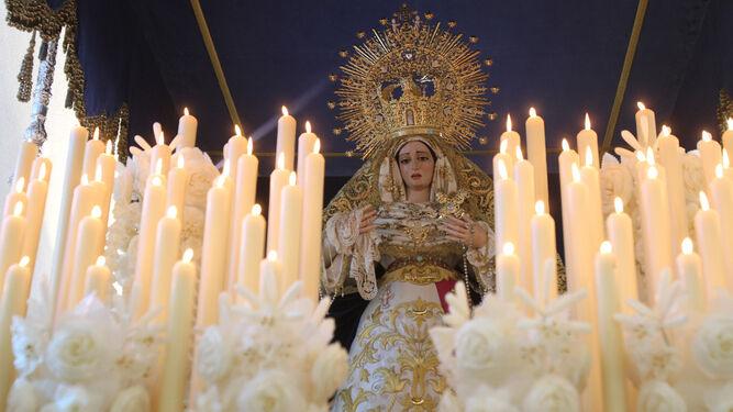 La Virgen de los Dolores, en su procesión del Martes Santo.