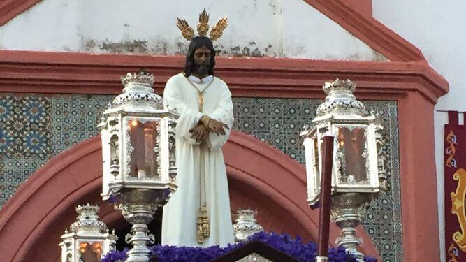 Nuestro Padre Jesús Cautivo procesionó ayer en Beas.