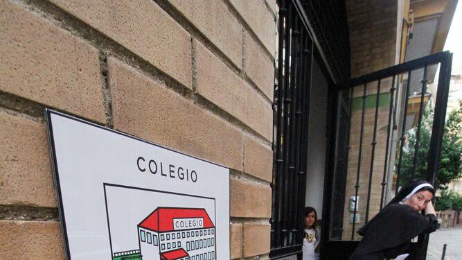 Pictograma instalado en el colegio de Las Agustinas.