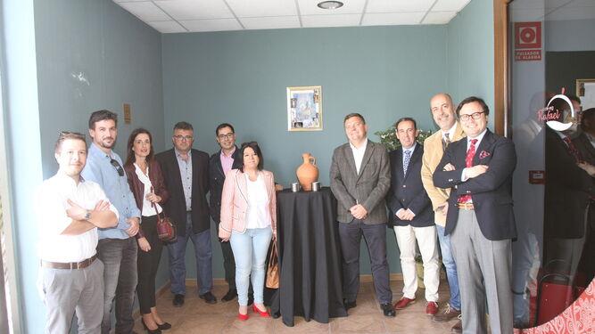 Imagen de colaboradores y trabajadores de 'Huelva Información' en el Complejo Rafael en la última Tertulia 'El Aguaó', la llamada '¡Ahí queó!'.