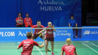 Imágenes de la primera jornada del Campeonato de Europa de Bádminton que se celebra en Huelva