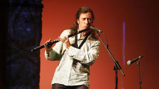 Jorge Pardo en una de sus actuaciones.