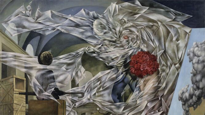 Detalle de 'Un cuadro muy alegre, obra de Dorothea Tanning.