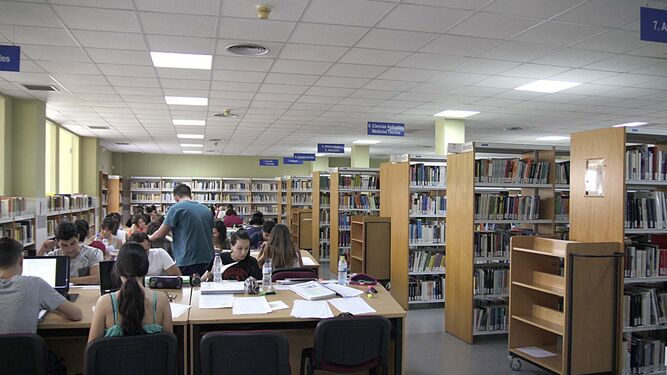 Biblioteca de la Universidad de Huelva.