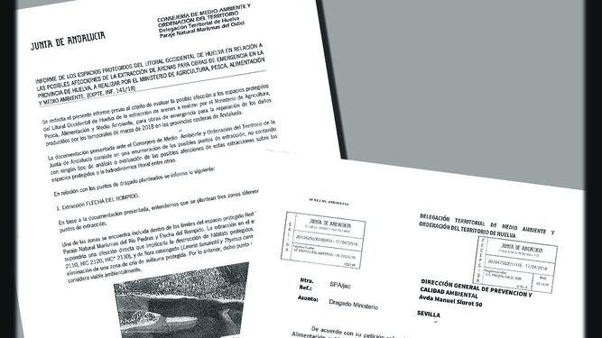 El Ministerio tiene el informe sobre la extracción de arena desde abril