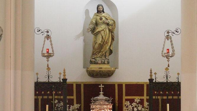 La capilla del Corazón de Jesús y del Sagrario, en una tarde de esta semana.