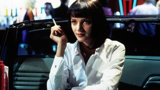 El bob con flequillo de Mia Wallace (Uma Thurman) en 'Pulp Fiction' (1994).