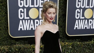 <p>Amber Heard, de Monique Lhuillier.</p>