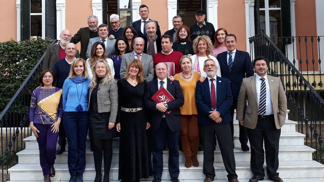 El jurado de los premios en la Casa Colón.