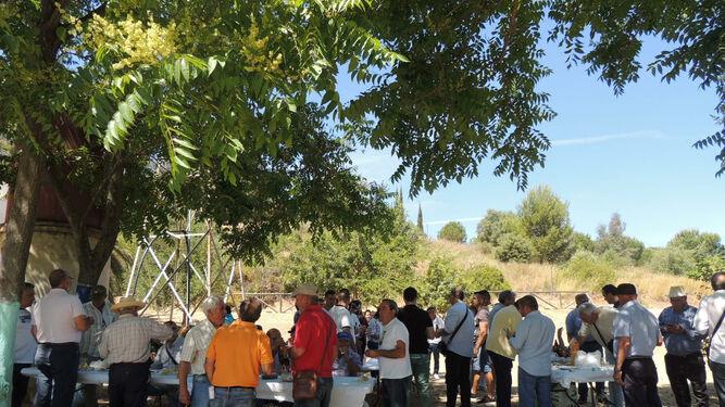 Un momento del Encuentro Provincial de Hortelanos en el Parque Moret.