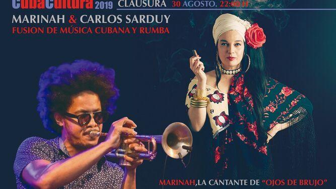 Marinah y Carlos Sarduby actúan el viernes.