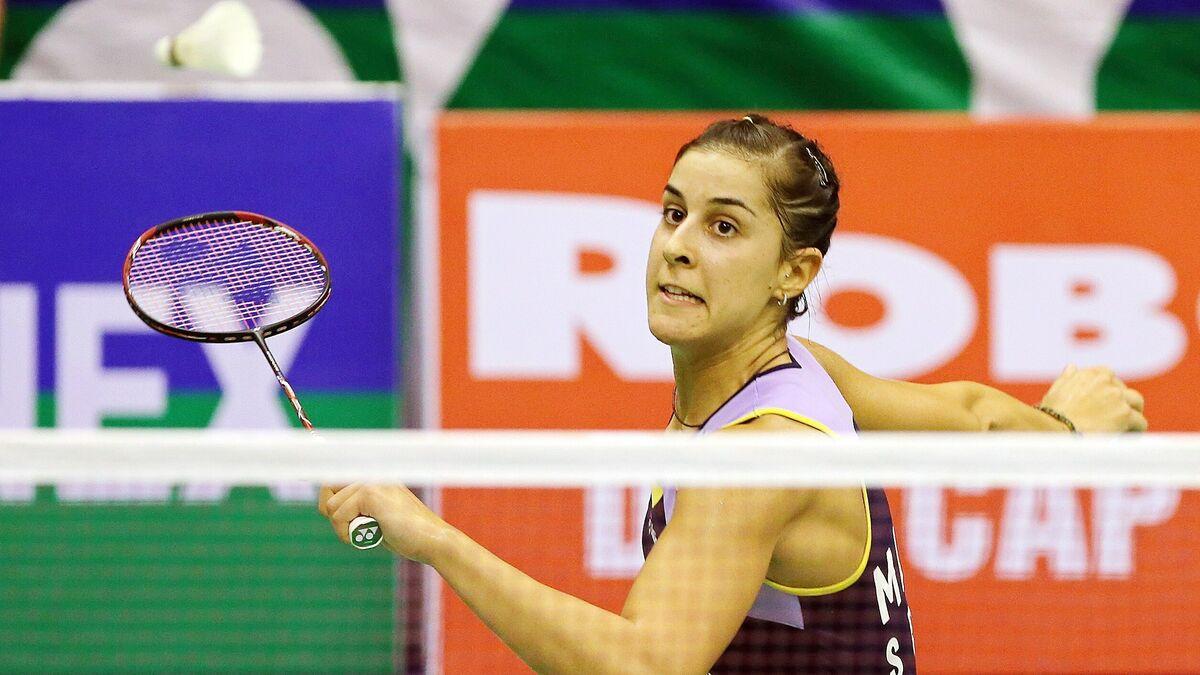 Resultado de imagen de Carolina Marín supera un set en contra y pasa a semifinales