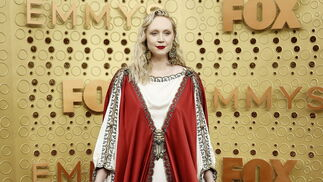 <p>Gwendoline Christie de <strong>Gucci</strong></p><br>