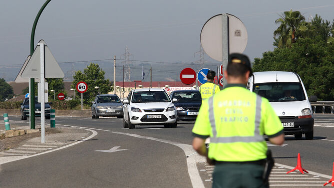 Un control de la Guardia Civil.