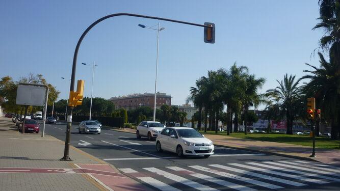 Tráfico rodado en la capital, una de las principales fuentes de ruido.
