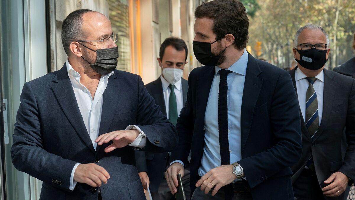 """Casado dice que Podemos """"se está comiendo al PSOE"""" con sus pactos con Bildu"""