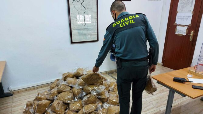 Tabaco intervenido por la Guardia Civil.