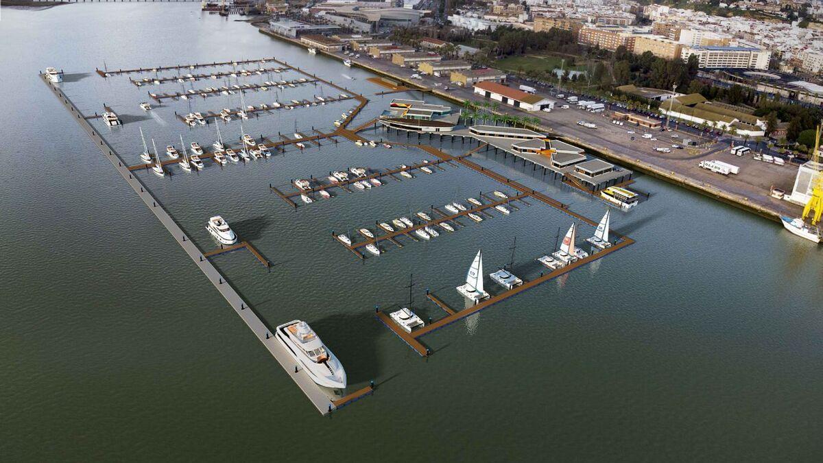 El Puerto de Huelva adjudica el concurso de la Marina del Muelle de Levante