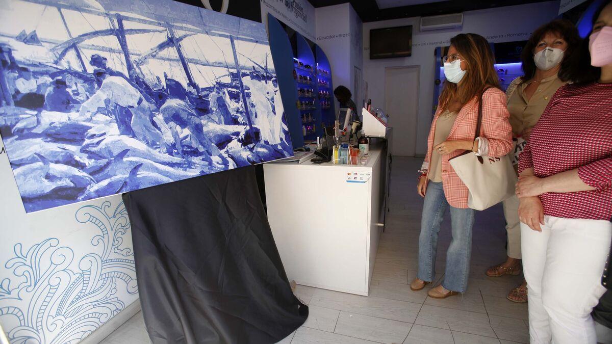 Una réplica del famoso cuadro de Sorolla 'La pesca de los atunes', realizada por el fotógrafo Javier Losa, puede verse en Equivalenza