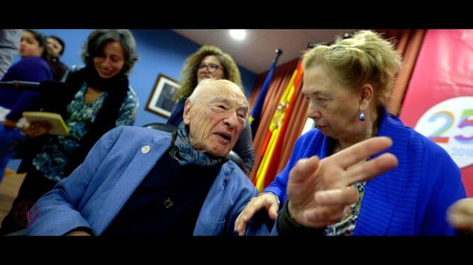 Edgar Morin conmemorando su centenario  en la Universidad de Huelva.